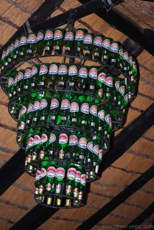 beer chandelier botswana  photo image