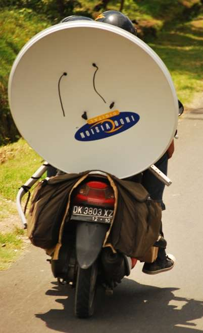 Bali Scooter Indonesia Satellite Dish