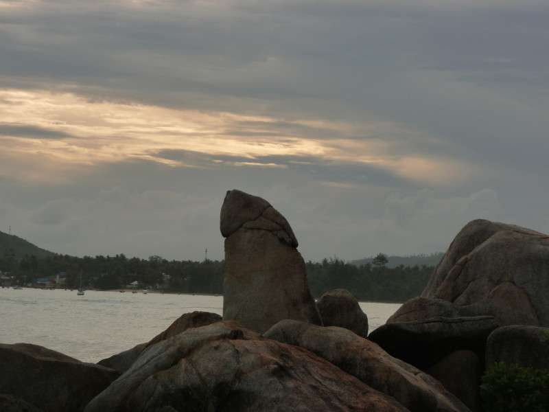 Grandfather Rock Koh Samui Thailand Suggestive Profile Photo thailand  photo