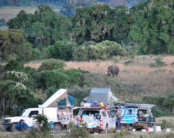 coolest camping ground tanzania  photo
