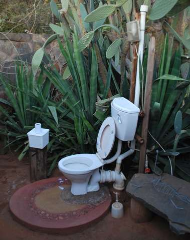 Outdoor Toilet A Plumbed One The Travel Tart Blog