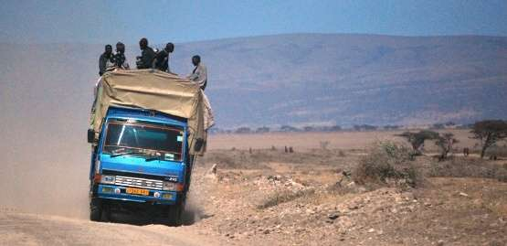 truck surfin tanzania  photo image