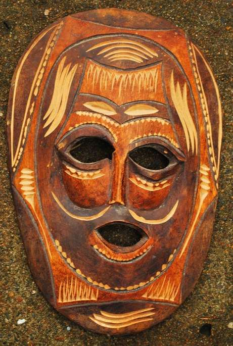 zulu mask full view south africa  photo