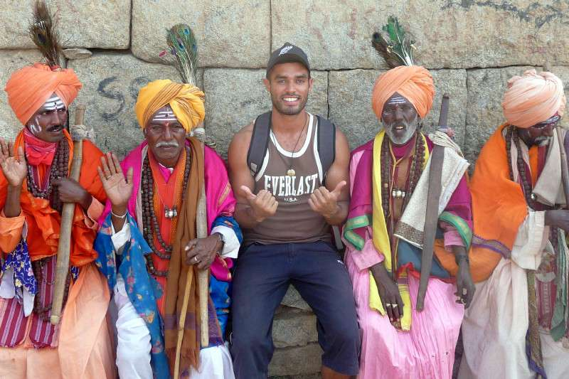 Hanging with Babas - Hampi