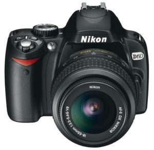 Nikon D60 SLR Camera Digital Travel Gadget