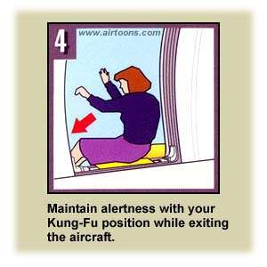 Airline Safety Card kungfu air travel  photo image