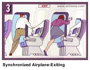 Airline Safety Card synchro air travel  photo image