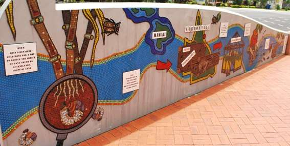 Cane Toad World Cane Toad History Mural Gordonvale Australia australia  photo