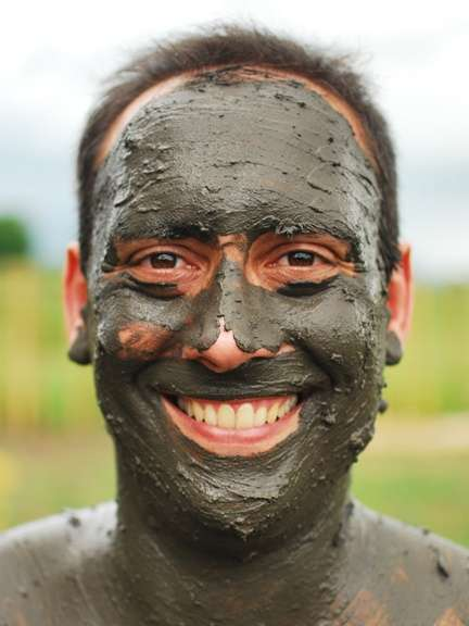 Mud Face Mask Compulsory in Fiji Mud Bath fiji  photo image