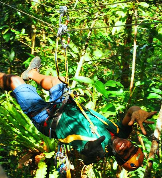 Zip Lining Adventures and Tours in the Fiji Rainforest An Awesome Flying Fox fiji  photo