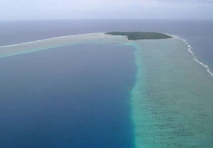 Marshall Islands approaching Ujae marshall islands oceania  photo