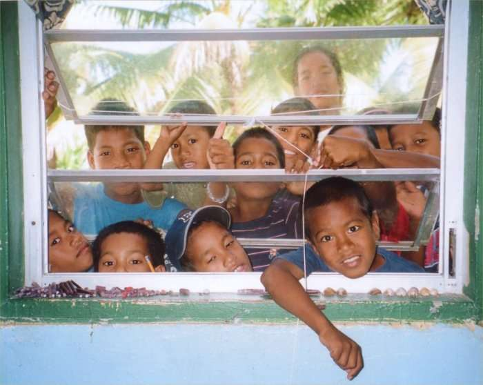 Teaching English To Marshall Island Kids marshall islands oceania  photo