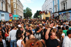 Large Crowds at 2010 Notting Hill Carnival