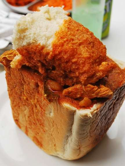 Chicken Curry Funny Bunny Chow south africa  photo image