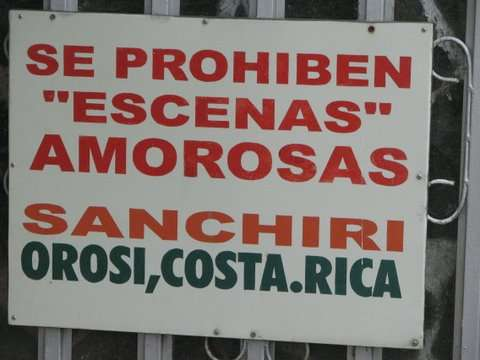 Love Scenes Forbidden and Banned in Costa Rica