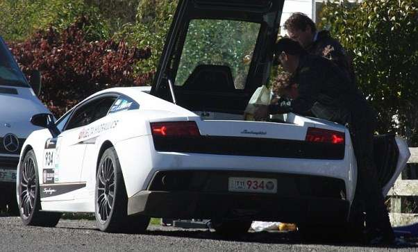 Lamborghini Gallardo Out Of Gas Funny targa tasmania 2011 australia  photo image