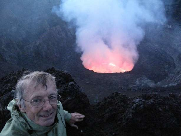 Tony Wheeler Interview Nyiragongo Volcano interviews  photo image