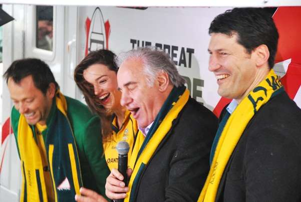 John Eales Sam Kekovich Miranda Kerr Mike Goldman the great crusade new zealand  photo