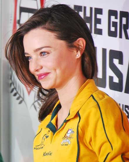 Miranda Kerr Qantas Wallabies Ambassador the great crusade new zealand  photo image
