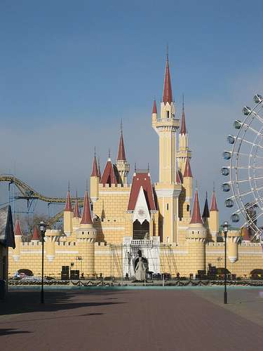 Fake Disney Land Shinjinshan Amusement Park travel satire  photo image