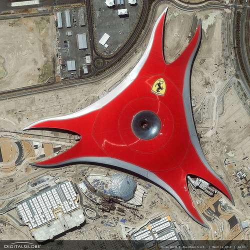 Ferrari World United Arab Emirates travel satire  photo image