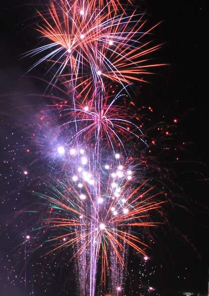 Fireworks on New Years Eve mauritius  photo image