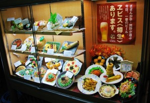 Plastic Food Displays in Japan