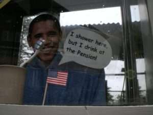 Swiss Pension Accommodation Advertisement - Barack Obama