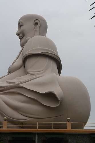 I Like Big Butts And I Cannot Lie Unusual Buddha Photo in Mekong Delta vietnam  photo