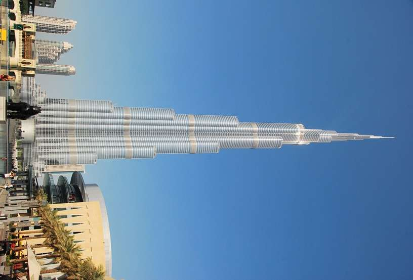 The Worlds Tallest Building Burj Khalifa in Dubai UAE united arab emirates  photo