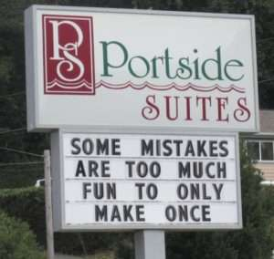 Making Mistakes - Funny Quotes from Hotel Advertisting