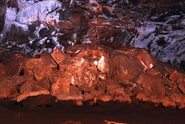 Rockfall in Lava Tube