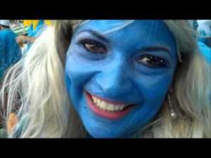 Video thumbnail for youtube video Ball By Ball - The Smurfs at the Cricket | Travel Tart Blog