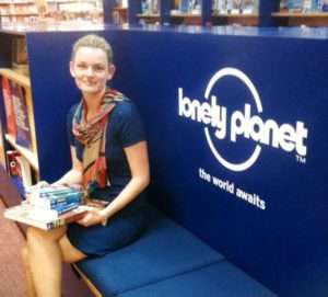 Dymocks - Image - Sophie Higgins, Dymocks National Buyer Manager at the Lonely Planet Hub.