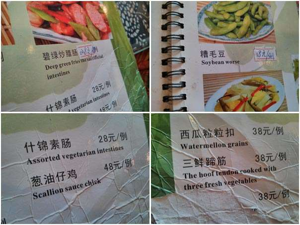 Weird Menu china  photo image