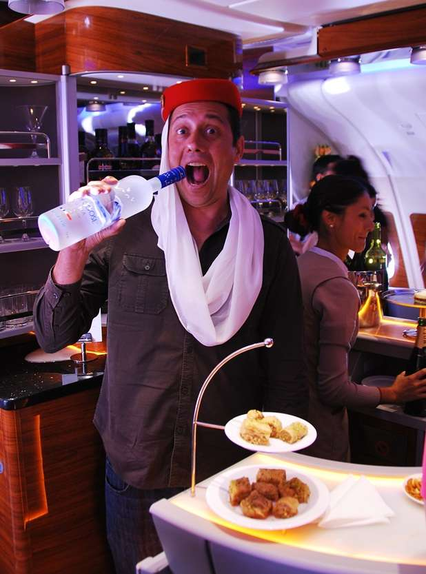 Emirates A380 Business Class Bar air travel  photo
