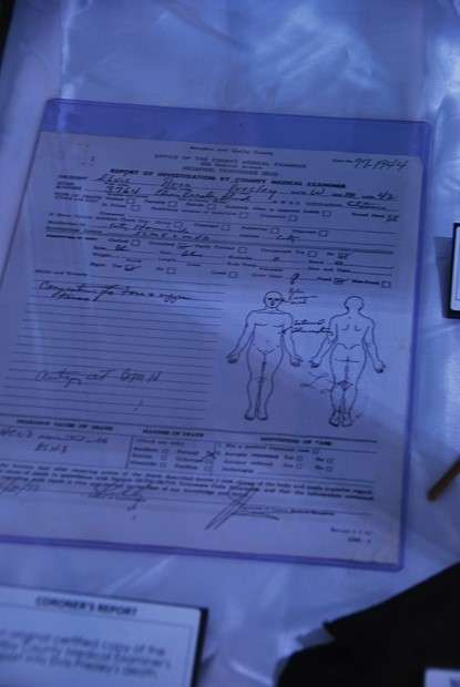 Elvis Presley Death Certificate australia  photo