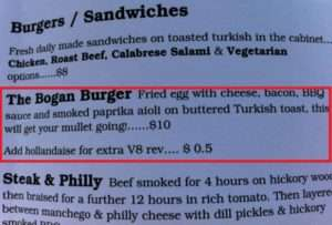 Funny Food - Bogan Burger