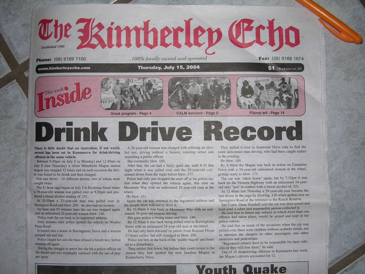 DUI Drink Driving Record