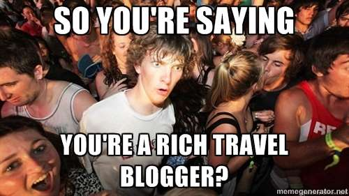 Travel Blogging Business Meme