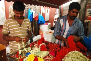 Flower Arranging - Little India, Singapore