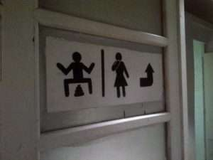 Squat Toilets Asia Funny Sign