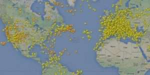Flight Radar 24 Map - US Europe Air Traffic