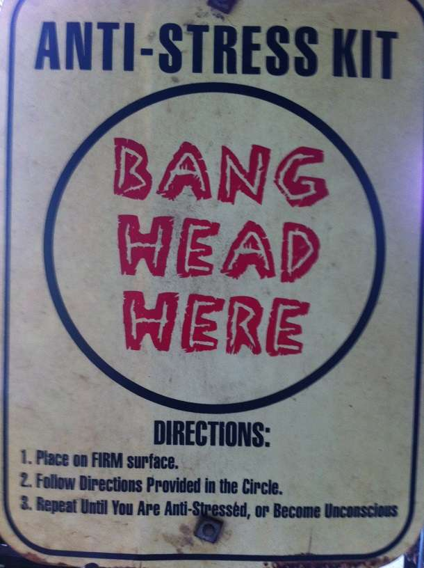 How to Relieve Stress and Anxiety - Bang Head Here