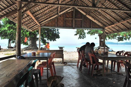 Cafe Gapung Beach Pulau Weh indonesia pestablogger 2009  photo