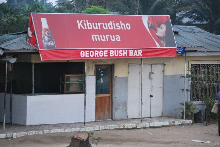Funny Travel Photo George Bush Bar, Dar es Salaam, Tanzania
