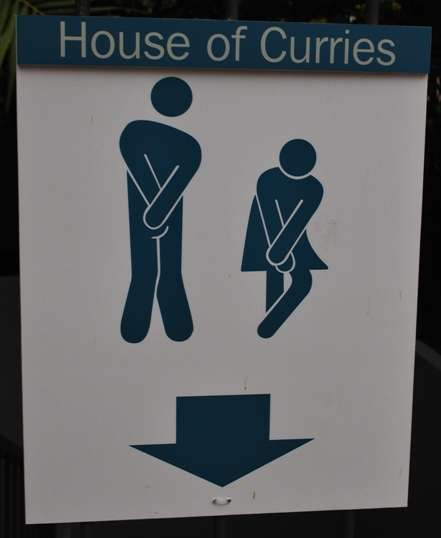 Funny Toilet Sign - House of Curries