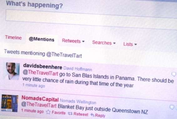 Travel Planning on Twitter