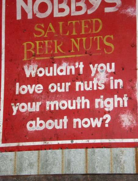 Roasted Peanuts Funny Advertisement - Nibble Nobby's Nuts