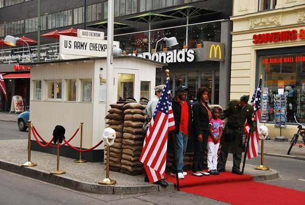 Checkpoint Charlie American Soviet Sectors Berlin Germany